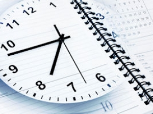Clock with diary